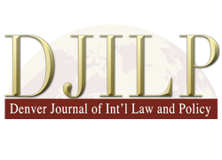 Denver Journal of International Law and Policy