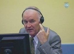 Ratko Mladic at the ICTY
