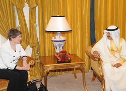 Helen Clark meets King Hamad bin Isa Al Khalifa (courtesy of UNDP)