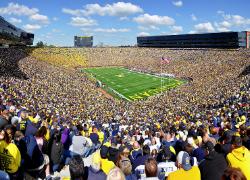 The Michigan Stadium holds 100,000+ people. Image Source: Wikipedia