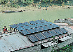 Bangladesh's Solar Home System initiative has been successfully bringing power to rural communities. Image Source: Dhaka Tribune