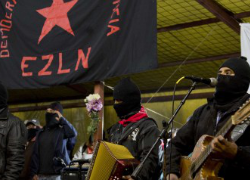 Zapatista supporters celebrate the 20th anniversary of the rebellion. Image Source: AP