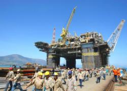 An oil platform in Brazil. Image Source: AFP/Getty Images