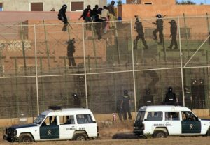 Prison in Melilla Guardia Civil. Credit to: http://www.hrw.org/sites/default/files/media/images/photographs/2014_Spain_MelillaGuardiaCivil.jpg