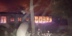 Hospital Taliban Fire