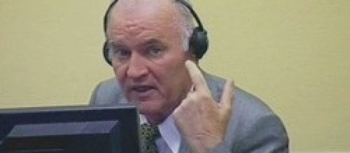 Ratko Mladic at the ICTY