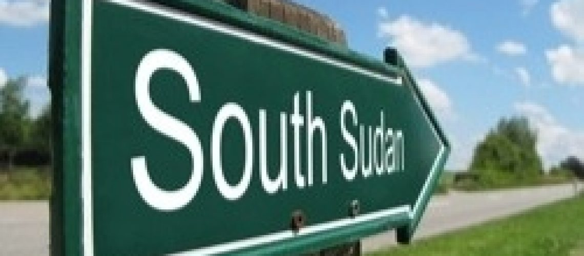 Sign Pointing to S. Sudan
