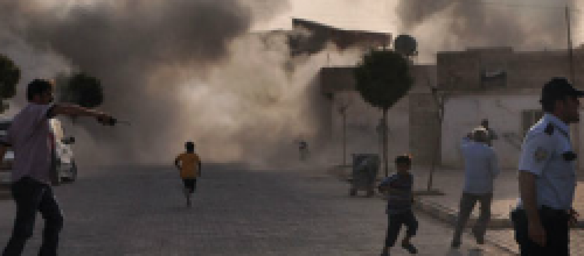 A mortar attack Akcakale, Turkey, on the border with Syria, killed a woman, her three children and a relative.  (NY Times)
