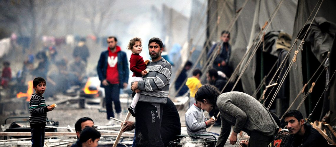 Syrian refugees living in a camp Credits: © Nikolay Doychinov/AFP/Getty Images