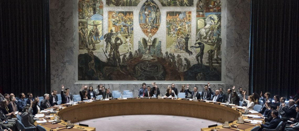 Security Council meeting Maintenance of international peace and security Vote