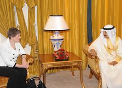 Helen Clark meets King Hamad bin Isa Al Khalifa (courtesy of UNDP)